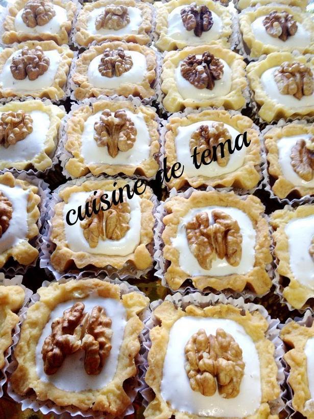 Tartelettes à la crème djouzia, djawzia