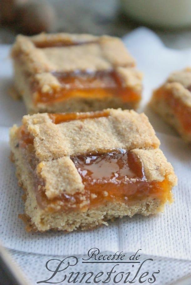 Linzer torte confiture d'abricots