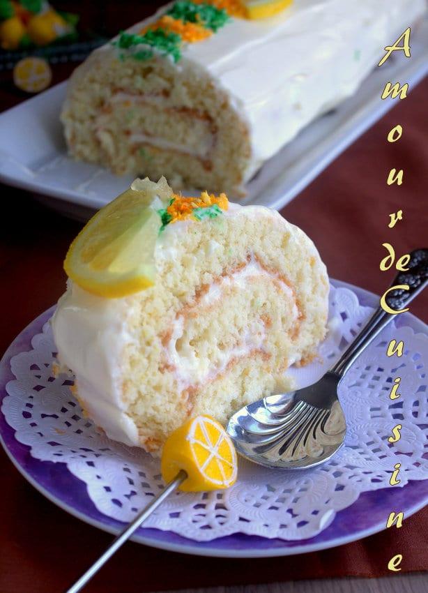biscuit roulé a la mousse de citron 2