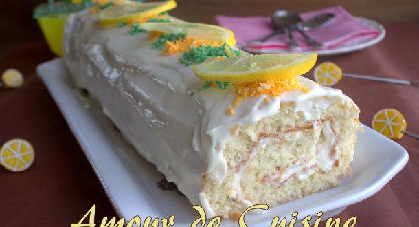 Biscuit roulé a la mousse de citron