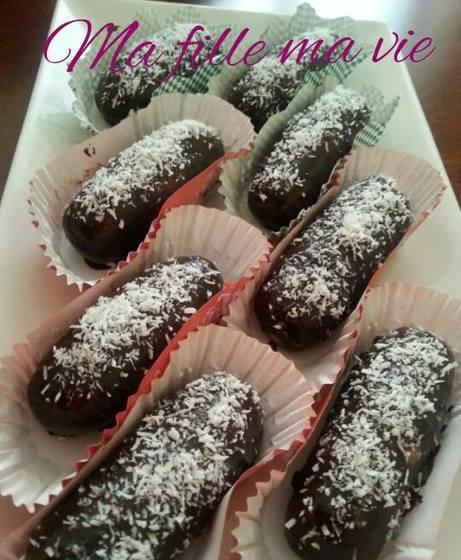 doigts au chocolat sans cuisson