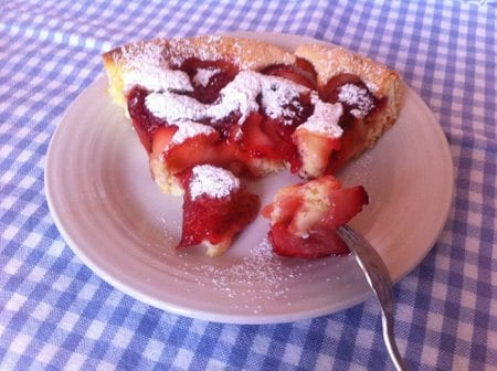 gateau sablé aux fraises