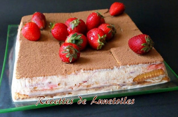 gateau sans cuisson aux fraises
