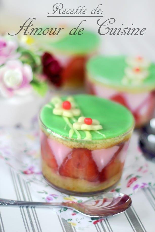 pudding aux fraises - faux fraisier