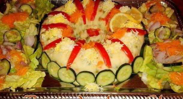 Salade de pomme de terre en couronne