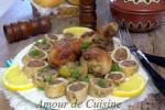 tajine de champignon et roulé de poulet a la viande 1