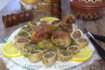 tajine de champignon et son roulé de poulet farci a la viande