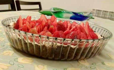 tarte aux fraises a la meringue de Nada Asmar