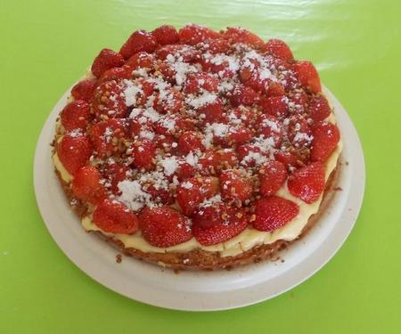 gateau moelleux amandes et fraises