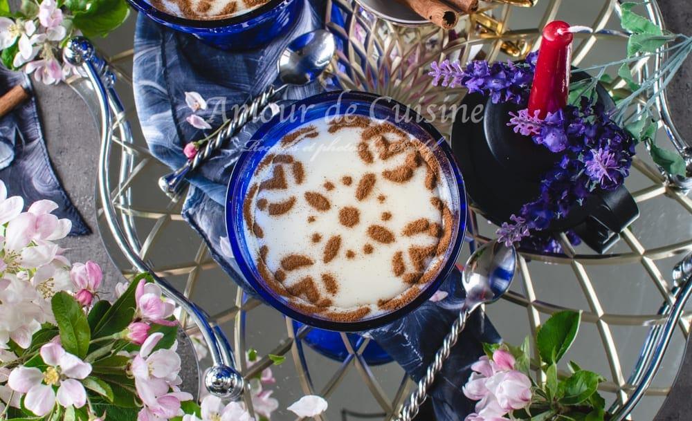 Crème au riz à la fleur d'oranger