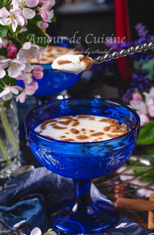 crème au riz en poudre à la fleur d'oranger
