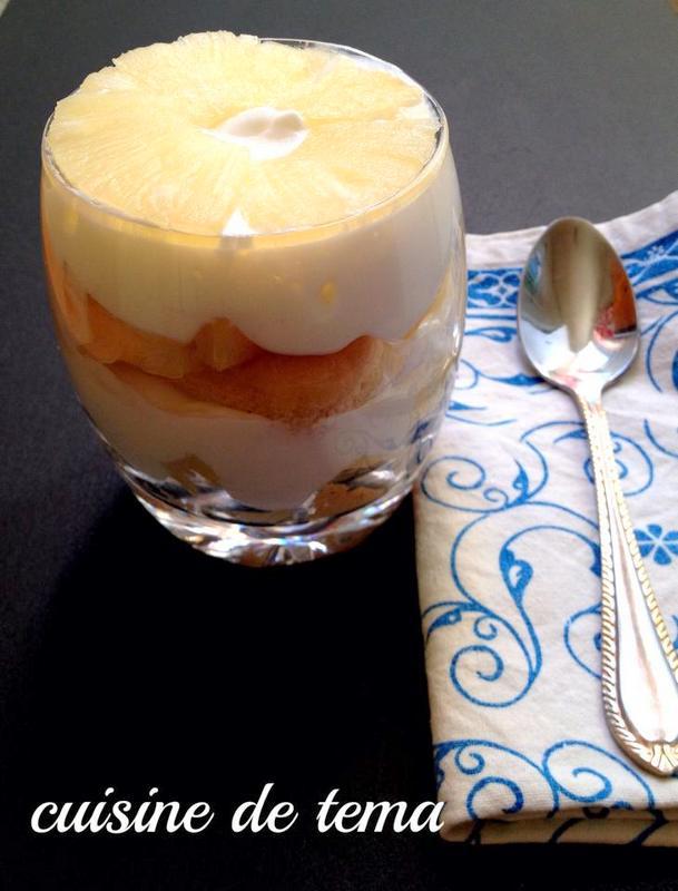 mousse au yaourt a l'ananas