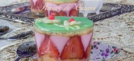 pudding aux fraises comme un fraisier