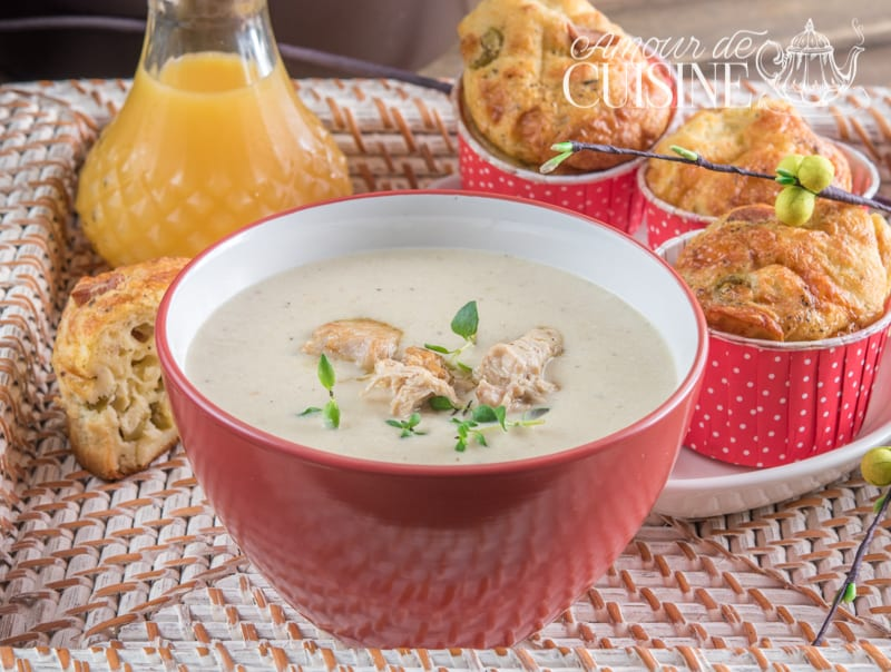 Soupe veloutée de poulet