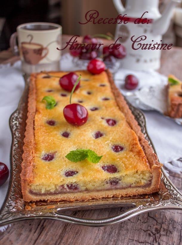 tarte amandine aux cerises 4
