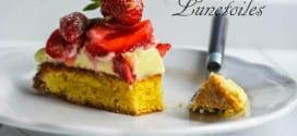 tarte moelleuse aux fraises et amandes