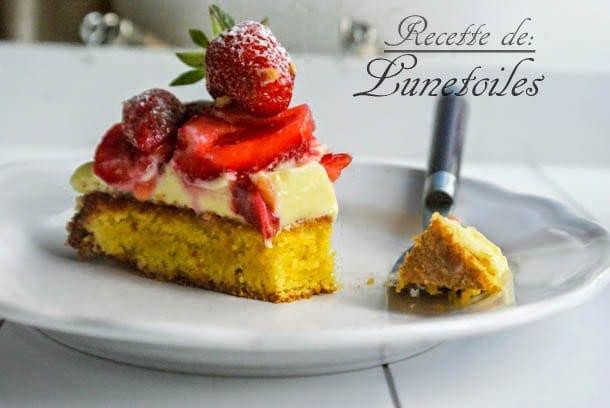 tarte moelleuse aux fraises et amandes 2