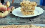 barre de crumble de peches et abricots