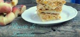 barre crumble de peches et d'abricots