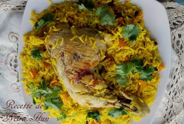 riz bisamti au poulet et raisins secs