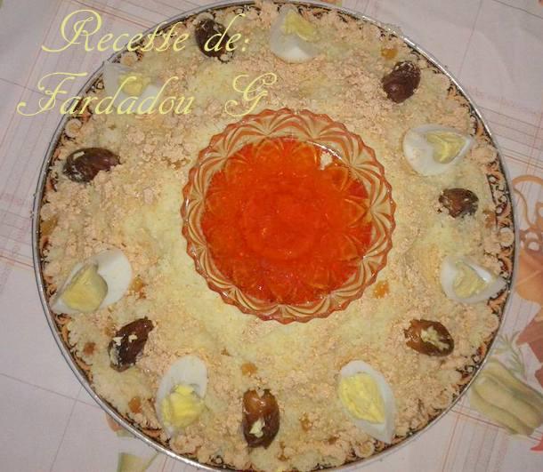 seffa, couscous sucré a la halwa turc