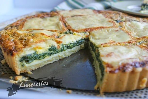 Quiche aux épinards et au fromage a raclette 1