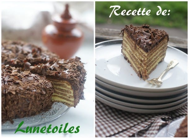 Gâteau rayé Baumkuchen