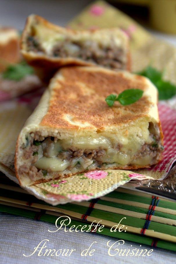 Crêpes turques a la viande hachée Gozleme