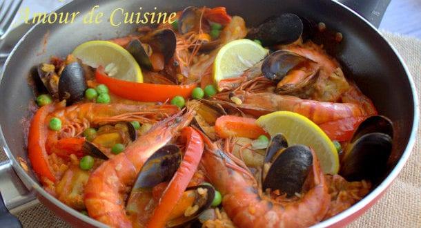 Paella au poulet amour de cuisine for Amour de cuisine ramadan 2015