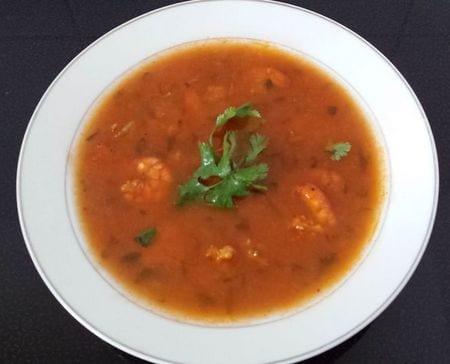soupe de crevettes chez Oumou hamza