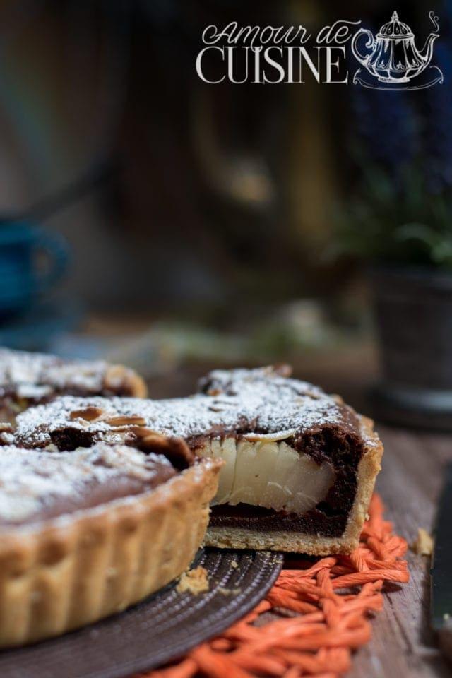 tarte poires et chocolat de Stephane Glacier