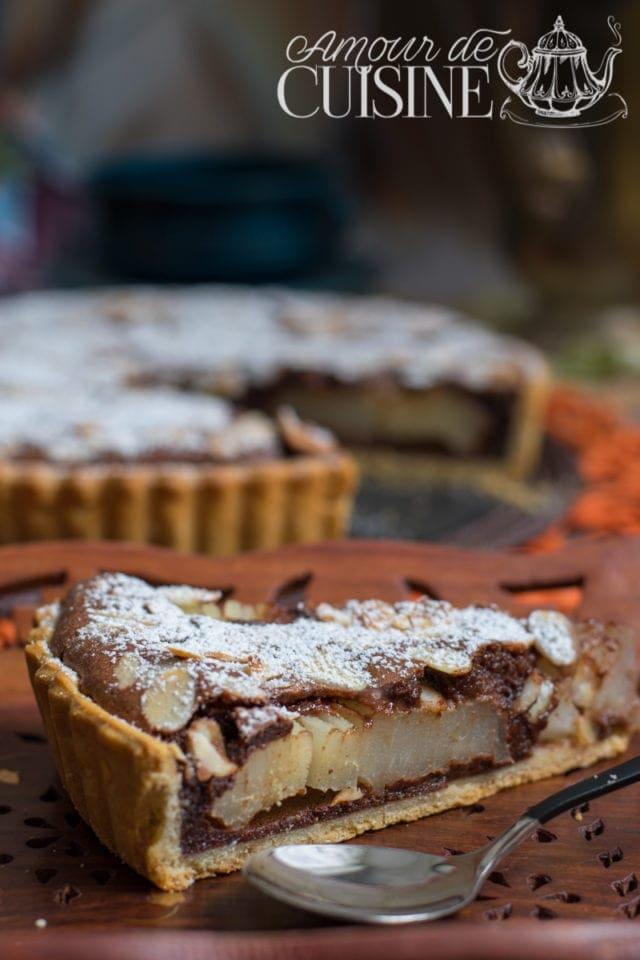 tarte poires et chocolat de Stephane Glacier 1