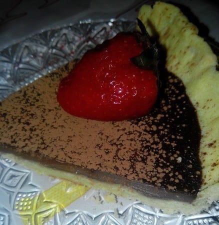 tarte au chocolat chez Aryouma Mess