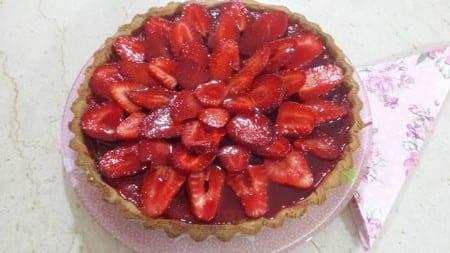 tarte aux fraises chez N-houda