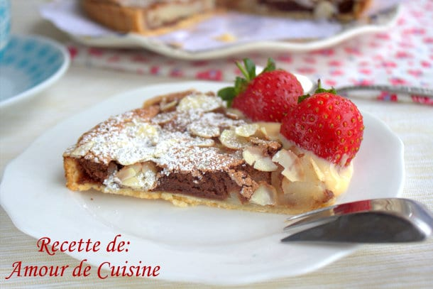 Tarte poires et chocolat de stephane glacier amour de for Amour de cuisine 2015