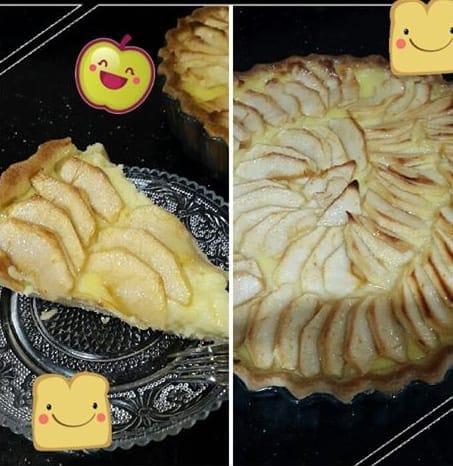 tarte flan aux pommes.bmp