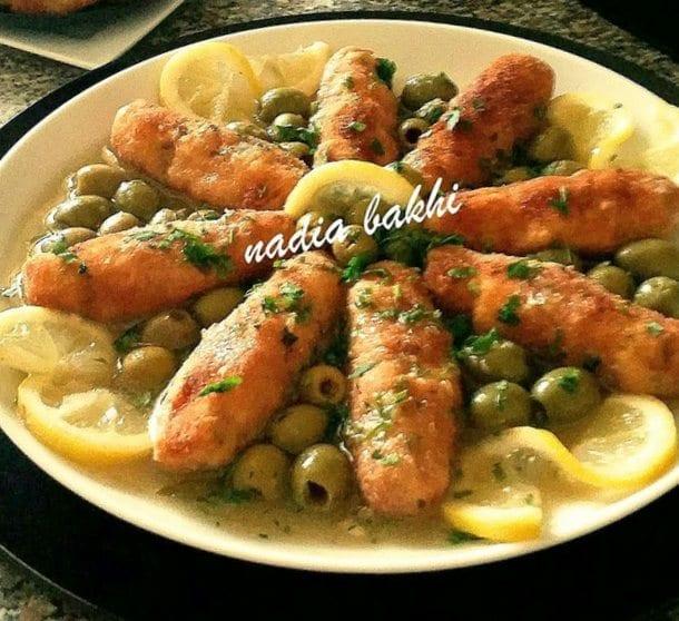 Croquettes de poulet et riz en sauce blanche-001