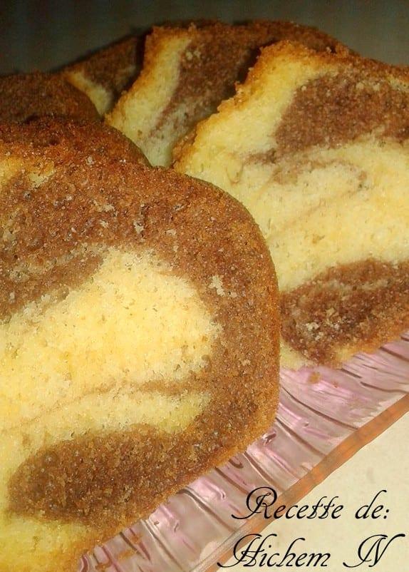 cake marbré café et vanille 1