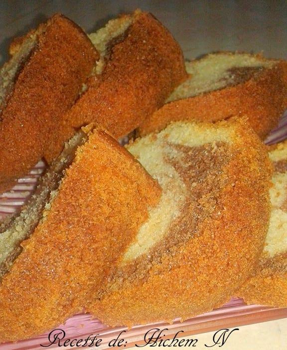 cake marbré café et vanille 2