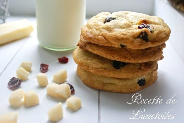 cookies a la pate d'amande et cranberry
