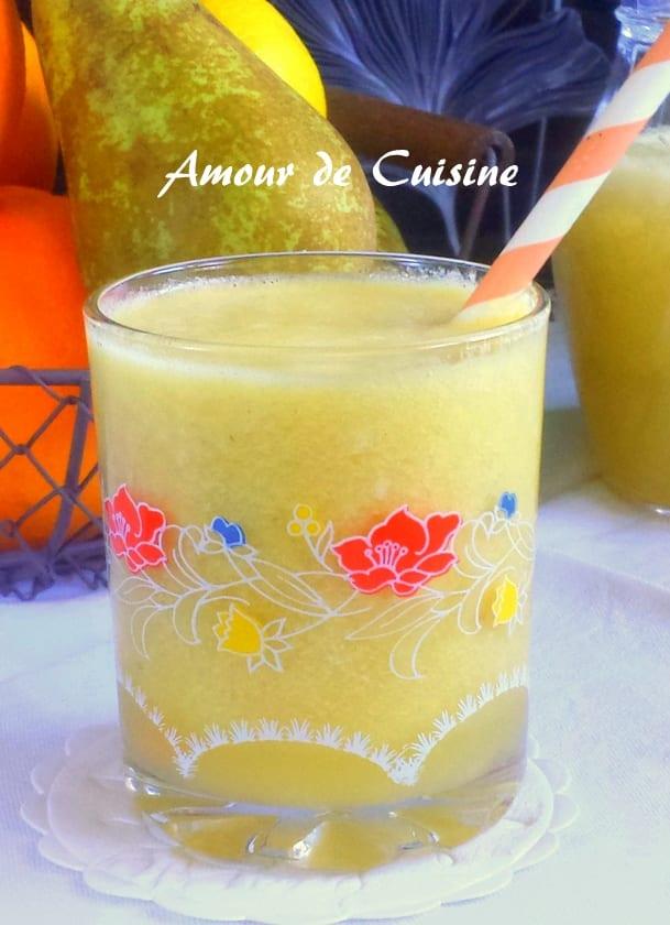 Jus de poires a la centrifugeuse amour de cuisine for Alcool de poire maison