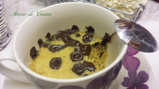 mugcake cookies au chocolat noir