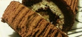 Roulé chocolaté façon bounty