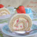 biscuit roulé aux noisettes et crème au pheladelphia