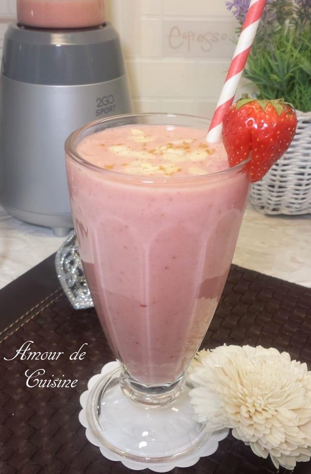 smoothie de gateau de fraises