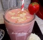 smoothie gateau aux fraises