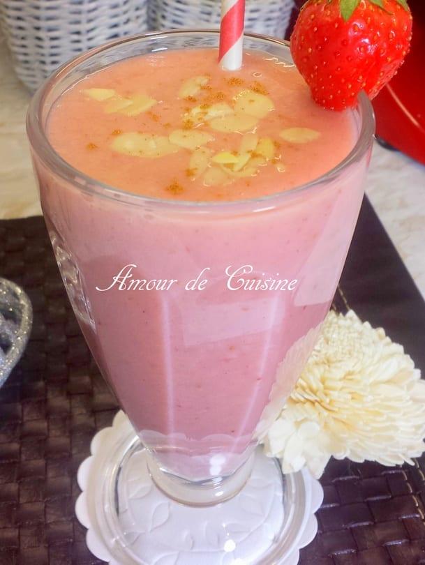 smoothie gateau aux fraises 1