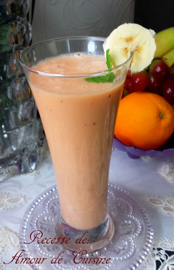 smoothie orange, carotte et raisins