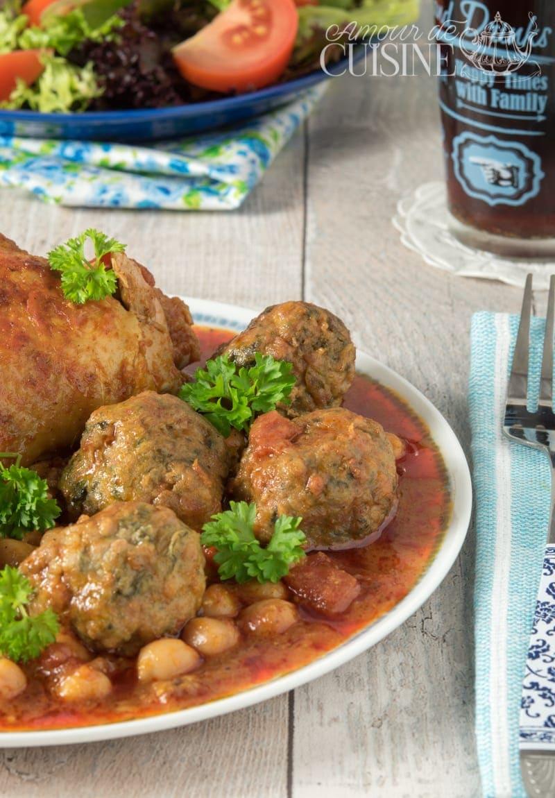 tajine de boulettes de viande aux epinards 1