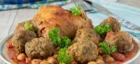 Tajine aux boulettes de viande hachée-épinards